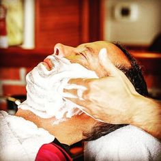 Nothing feels better on a cold winter day like a hot lather shave! #barber #barberlife #beard #beards #mensfashion #layritesoldhere #tonic #aftershave #vsbarbershop #beardlife #shave #smellgreat #smellawesome #barbershopconnect #barbering #hottowelshave #shavetonic #barberlifestyle #barbers #barbernation #getyourgameon #jenkintown #bringingbackhandsome #itsaguything : @jenkintownbarbershop
