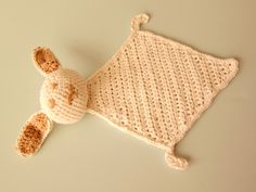 Bunny Comfort Blanket crocheted by Les Fous D'Art. http://www.ravelry.com/projects/AnnieJeanson/bunny-comfort-blankie