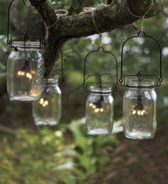 contemporary laternen glas Solarleuchten im Garten