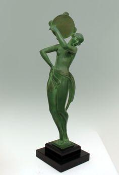 """An Art Deco Max le Verrier of Paris sculpture by Fayral, """"Farandole"""", circa 1930s."""