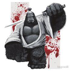 Gorilla samurai via-550