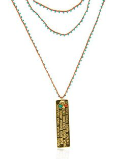 MANTRA CHARM BEADED NECKLACE
