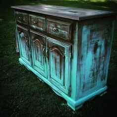"""Excellent """"bar furniture for sale"""" info is available on our website. Take a look. - Excellent """"bar furniture for sale"""" info is available on our website. Take a look and you will n - Funky Painted Furniture, Distressed Furniture, Refurbished Furniture, Paint Furniture, Repurposed Furniture, Furniture Projects, Furniture Makeover, Cool Furniture, Turquoise Furniture"""