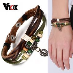 Charm Bracelets Vintage Thin Cowhide Hook Buckle Bracelet Man Punk Jewelry Wrist Band Bangle 2018 Strong Resistance To Heat And Hard Wearing Bracelets & Bangles