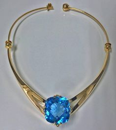 Swedish 18K Topaz  Necklace, 20th century, Leif Bergmark   From a unique collection of vintage  at https://www.1stdibs.com//