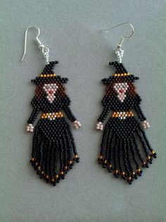 3D Beaded Little Witch Doll Pattern
