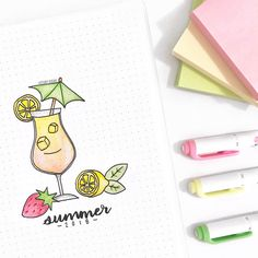 Summer officially begins today! ☀️ What's your favorite summer drink? I love strawberry lemonade hence for the doodle  Also, I love…