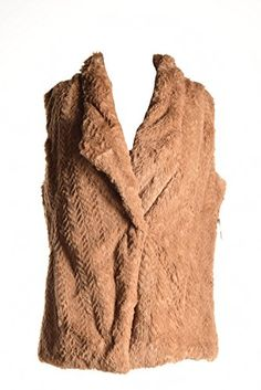 Wild Flower Womens Faux Fur Lined Outerwear Vest Brown S * More info could be found at the image url.