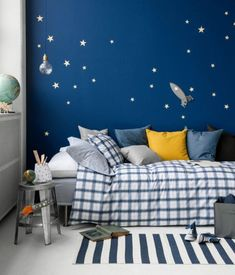 Cute Childs Room Designs With Blue Yellow Tones Boys Bedroom Furniture, Boys Bedroom Decor, Chambre Nolan, Ruby Room, Study Rooms, Kids Room Design, Decoration, Child's Room, Armelle