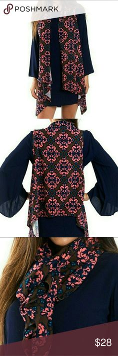 Cozy Waterfall Vest or Scarf Cozy Waterfall Vest or Scarf Accessories Scarves & Wraps