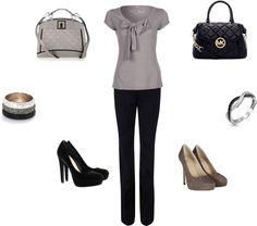 """""""Casual/Simple Work Outfit"""" by heather-salsedo on Polyvore"""
