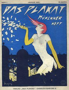 Schnackenberg, Walter poster: Das Plakat - Munchner Heft