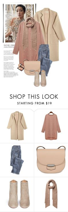 """""""Pearl Sweater"""" by monmondefou ❤ liked on Polyvore featuring Mara Hoffman, Wrap, CÉLINE and Aquazzura"""