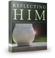 "Reflecting Him is a 10-week Bible study based on 2 Corinthians 3:18... ""And we, with unveiled faces, all reflect the Lord's glory are being transformed into His likeness from ever increasing glory, which comes from the Lord who is the Spirit."" Do this study on your own, with your family, or with a small group!"