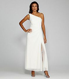 Alex Evenings OneShoulder Gown #Dillards