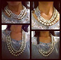 3641b64ee4325 Glass, Hematite & Mixed Metal Bib Necklace | Palladian Necklace ...