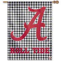 Alabama Crimson Tide Houndstooth Vertical Flag: 27x37 Banner