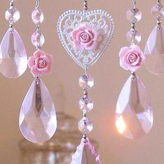Pink crystal sun catcher pinned with Bazaart Sun Catcher, Pink Love, Pretty In Pink, Estilo Shabby Chic, I Believe In Pink, Romantic Cottage, Everything Pink, Pink Christmas, Victorian Christmas