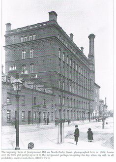 The large mill building is still there. I worked in the building on the immediate right until recently. The houses on the left are a car park. Old Belfast in Photographs Old Pictures, Old Photos, Belfast Northern Ireland, Belfast City, Great Britain, Tourism, Car Park, World, Binder