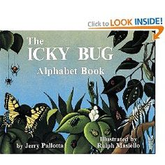 """Use during insect unit in science as a great way to tie in literacy/science...have students collect real bugs, write their names on a strip of paper, students draw picutre of bug..then as a class compile to make your own """"Icky Bug"""" alphabet book"""