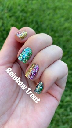 Rainbow Trout, Rainbow Nails, Color Box, Color Street, Glitter Nails, Summer Nails, Nail Designs, Mermaid, Rarity