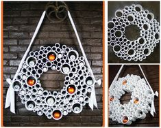PVC Pipes | 50 Unexpected Wreaths You Can Make Out Of Anything - make sure some rings are big enough for seasonal items - mini pumpkins, easter eggs, etc. kids could pick a treat when they visited office?