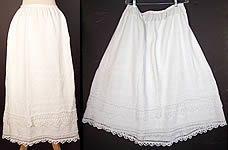 Victorian Antique Hand Knit Crochet White Wool Winter Petticoat Skirt