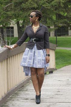 DIY short ankara printed skirt ~African fashion, Ankara, kitenge, African women dresses, African prints, African men's fashion, Nigerian style, Ghanaian fashion ~DKK