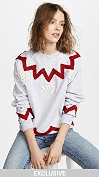New Michaela Buerger Snowflake Trio Sweatshirt online. Find the  great Autumn Cashmere Clothing from top store. Sku hqyx38243scto71797