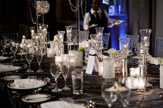 glamorous shiny table settings