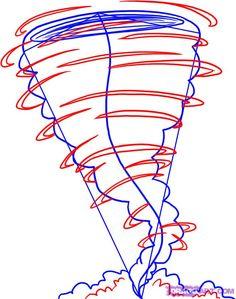 how to draw a tornado step 3