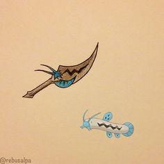 Pokeapon No. 339 - Barboach. #pokemon #barboach #knife #pokeapon