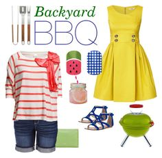"""""""Backyard BBQ"""" by jamberrynails ❤ liked on Polyvore featuring Valentino, Earl Jean, Orla Kiely, Dolce Vita, VILA and Bodum"""