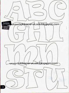 Molde de letras fieltro
