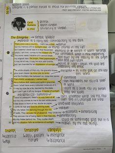 English Gcse Revision, Gcse English Language, English Grammar Rules, English Writing Skills, Better English, Learn English, Book Study, Study Notes, English Literature Poems