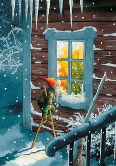 Inge Look Postcard Christmas Gnome, Christmas Art, Vintage Christmas, Illustration Noel, Christmas Illustration, Christmas Stationery, Scandinavian Christmas, Christmas Pictures, Winter Pictures