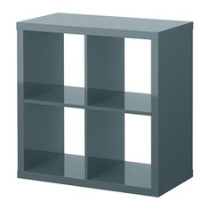 KALLAX Shelf unit - high gloss gray-turquoise - IKEA