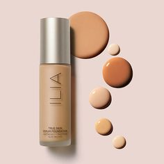 Shop ILIA's True Skin Serum Foundation at Sephora. This medium-coverage, serum-infused foundation has a radiant, skin-like finish and a featherweight feel. Glow Foundation, No Foundation Makeup, Vogue Makeup, Beauty Makeup, Makeup Backgrounds, Organic Makeup Brands, Aloe Leaf, Glow Kit, Skin Serum