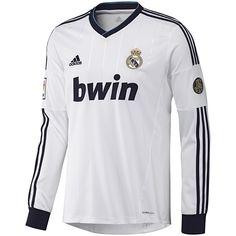 adidas Real Madrid long sleeve home jersey 2013