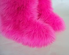 blue fuzzy boots from Jewelry by Donna | Fluffy Fuzzy Furry Boots ...