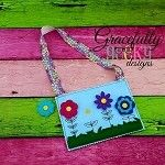 Snap a Flower Game Set Busy Bag  Embroidery Design - 5x7 Hoop or Larger