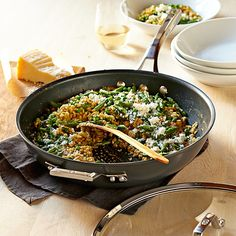 Calphalon Elite Nonstick Essential Pan | Williams-Sonoma  ----  doesn't have a flat bottom...