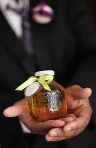 martinelli apple juice favors for the baby shower in fall. maybe pair with mini pie and wrap
