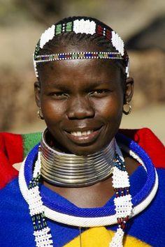 Ndebele girl. NECK LINE