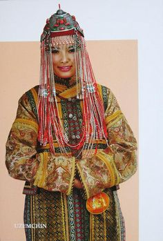 Mongolian traditional dress types. Ethnic groups in mgl