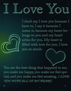 Free I love you ecard that you can send to your friends, family, and loved ones. - Free I love you ecard that you can send to your friends, family, and loved ones. Love You Poems, Love Poem For Her, Love Quotes For Him Romantic, Love Quotes For Her, Cute Love Quotes, Love Yourself Quotes, Romantic Gestures For Him, Romantic Poems, Love My Husband Quotes