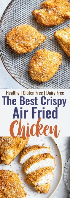 Crispy Breaded Air Fryer Chicken Breast