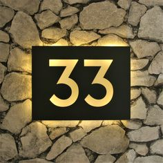 small furnitureChest of drawers AscotWayfair.deLight up house numbers! Made to order stainless steel house number plaques in a .Light up house numbers! Made to order stainless steel house number plaques in a custom font with Illuminated House Numbers, Metal House Numbers, House Number Plaque, Up House, House Front, Name Plate Design, Backlit Signs, Entrance Signage, Address Plaque