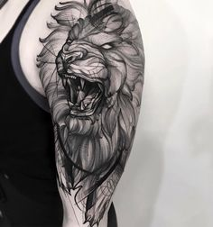 Lion tattrx tattoo style by Frank Carrilho