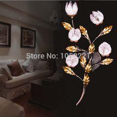 Shengdisiman double applique murale en verre teinté salon de style